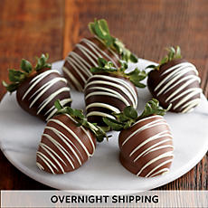 Hand-Dipped Chocolate-Covered Strawberries - Half Dozen