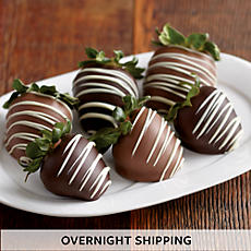 Triple Hand-Dipped Chocolate-Covered Strawberries - Half Dozen