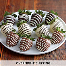 Hand-Dipped Chocolate-Covered Strawberry Medley - One Dozen