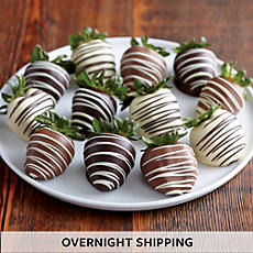 NEW Double Hand Dipped Chocolate Covered Strawberry Medley - One Dozen
