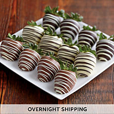 Triple Hand-Dipped Chocolate-Covered Strawberry Medley - One Dozen
