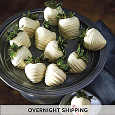 Hand Dipped White Chocolate Covered Strawberries - One Dozen