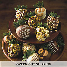 NEW Nut Lover's Hand Dipped Chocolate Covered Strawberries - One Dozen