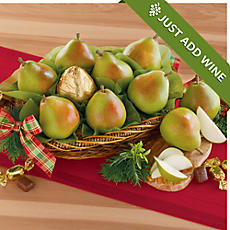 <span style=color:#bb0011>NEW</span> Royal Riviera® Pear Gift Basket