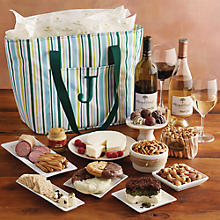 Personalized Gourmet Picnic Tote with Wine