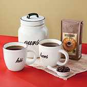 <span style=color:#bb0011>NEW</span> His, Hers and Ours Coffee Gift Set