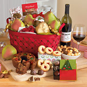 <span style=color:#bb0011>NEW</span> Christmas Gift Basket Classic with Wine