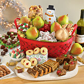 <span style=color:#bb0011>NEW</span> Christmas Gift Basket Grand Deluxe with Wine