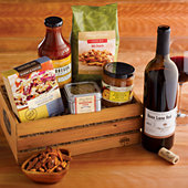 NEW Gourmet BBQ Grilling Crate with Wine