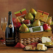 New Year's Signature Gift Basket with Sparkling Wine