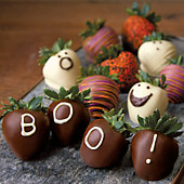 Halloween Hand-Dipped Chocolate-Covered Strawberries - One Dozen