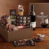 Chocolate Assortment Gift Box with Wine
