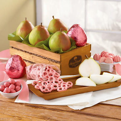 Think Pink Pear Gift Basket