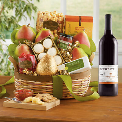Crater Lake Gift Basket Classic with Wine