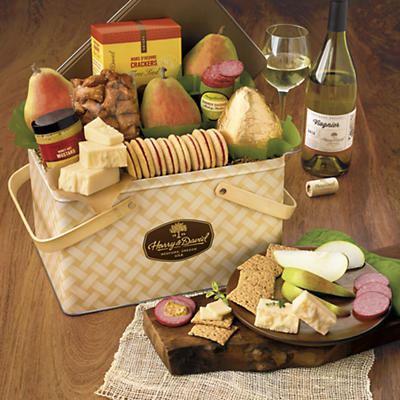 Sunshine Picnic Basket with Wine