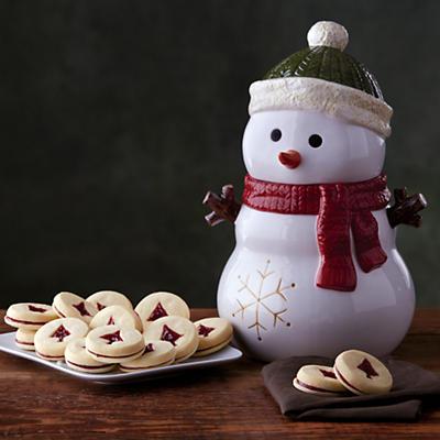 Snowman Cookie Jar Gift with Cookies