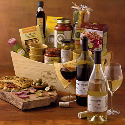 Cucina D'Italia Gift Basket with Wine