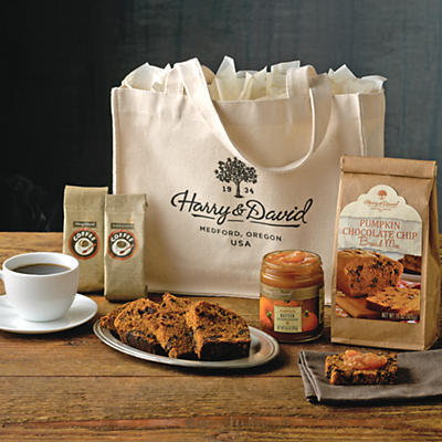 Pumpkin Tote Gift with Coffee