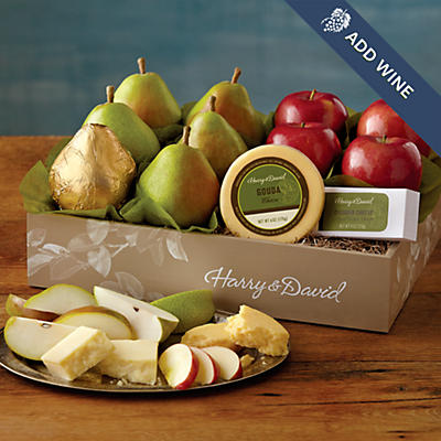Pears, Apples, and Cheese Gift