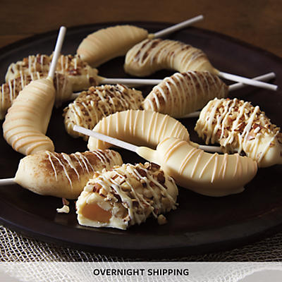 Hand Dipped White Chocolate Covered Peach Slices - One Dozen