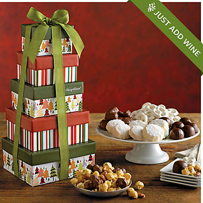 Holiday Tower of Sweet Treats