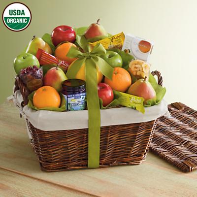 Organic Fruit Gift Basket Deluxe